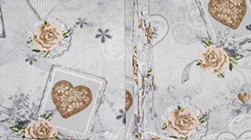 Russo tessuti tovaglia telo multiuso vanity copritutto cotone shabby beige 140x240 cm