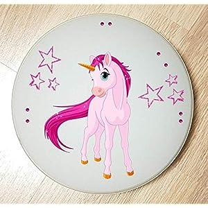 Deckenleuchte/Wandlampe * Einhorn Unicorn Pferd 2 * auch LED – mit/ohne Name
