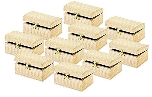 VBS Holztruhe, 10 Stück, Truhe aus Holz dekorieren Kästchen zum Verschenken