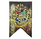 Harry Potter Banner Set – Gryffindor Slytherin Ravenclaw Hufflepuff House Flaggen Collection Hogwarts