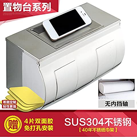 UPPER-Salle de bains 304 boîte de papier de toilette, serviette de papier toilettes perforés, boîte de carton à la main, papier toilette wc porte-serviettes pivotant,304 pas de l'arbre