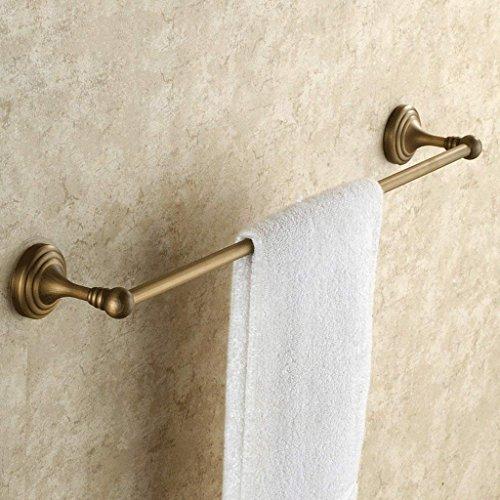 YNG Handtuchständer Antik Einzel - Pol Handtuchhalter Europäischen Stil Kupfer Handtuchhalter Handtuch Hängenden Bad Hardware Anhänger,40 cm