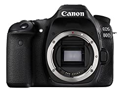Canon EOS 80D 24.2MP Digital SLR Camera (Black) Body Only and 8GB Card