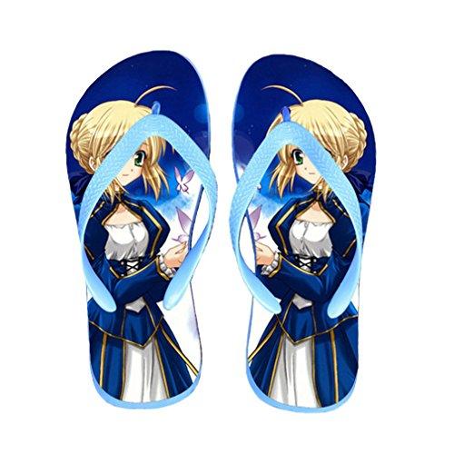 Bromeo Fate Zero Fate/stay Night Anime Unisex Flip Flops Zehentrenner Flip Pantoffeln 214