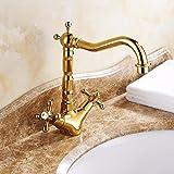 NewBorn Faucet Wasserhähne Warmes und Kaltes Wasser Guter Qualität Das Luxuriöse Goldene Wasserhähne Voll Kupfer heiße und Kalte Armaturen Waschbecken Wasserhahn