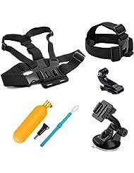 SHOOT Accessories pack 7-en-1 Kit d'accessoires sports de plein air pour Gopro 5/4/3+/3 SJ4000 SJ5000 SJ7000 Xiaomi Xiaoyi Yi 2 4K/ YI 4K+ caméra de sports Accessoires