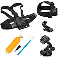 SHOOT Action Camera Accessories Kit for GoPro Hero 8 Hero 7 Hero (2018)6/5/4 GoPro Hero Session SJCAM SJ4000 SJ5000 SJ6000 AKASO EK7000 Apeman A70 APEMAN A80 Xiaomi Yi WiMiUS Sony Sports Camera