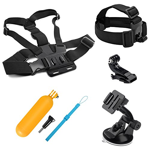 SHOOT 7-en-1 Accessories Pack Kit d'accessoires Sports de Plein Air pour GoPro Hero 6/5/4/3 +/3 Crosstour Campark YI 2K Nouveau