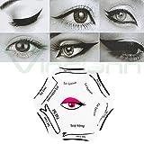 Plantilla 6en 1guía delineador, plantilla línea forma de los ojos, párpado, maquillaje