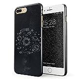 Glitbit Hülle Kompatibel mit iPhone 7 Plus / 8 Plus Cute Solar System Galaxy Stars Planet Earth Moon Universe Space Welt Sterne Universum Dünn Robuste Rückschale aus Kunststoff Handyhülle Case Cover