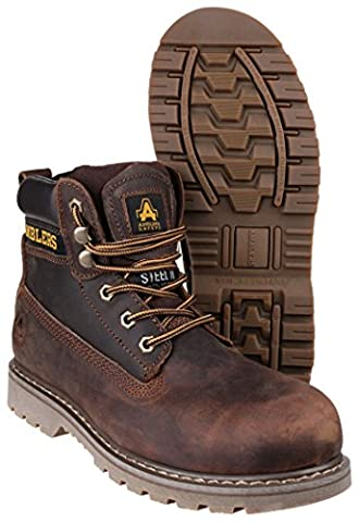 Unisex FS164 Welted Safety Boot in Brown (9)