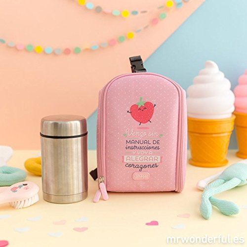 Mini Mochila Térmica Mr. Wonderful + Termo 500 ml Rosa