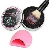 iFanze Maquillaje Pinceles Limpiador, Esponja para Eliminar Brochas de Maquillaje  Color en Pocos Segundos y Cambiar a Siguiente Color,  Silicona Depurador para Limpieza Makeup Brushes, 2 Piezas