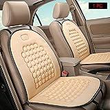 HomDSim Cojines de asiento de coche esféricos con masaje, cubiertas universales de asiento de coche, cojín para asiento de coche, cubierta acolchada con masaje (Beige)