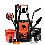 VWBQ Pulitore ad Alta Pressione per Uso Domestico - Lavatrice per Auto Portatile, Motore in Rame, Impermeabile IPX5, Usato per Il Lavaggio dell'auto, per la Pulizia delle iarda
