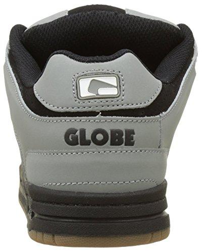 Globe Scribe, Scarpe da Skateboard Uomo Grigio (Grey/black/white)