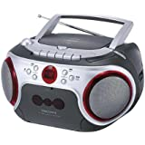 Scott SWM7CS Portable Stereo FM Radio With Cassette and CD Player