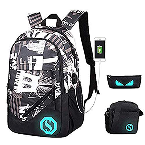18e3190b7c Ultra Light Water Resistant Boy School Backpack Set 3 Pieces School Bags  Set for Teenage Boys