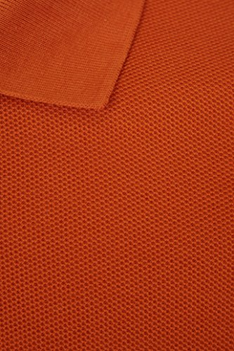 Barror London Men's City Polo Shirt - Medium to Kingsize Orange - Rostbraun