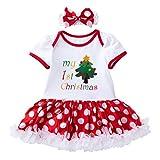 Neugeborenes Kleinkind Kleinkind Mädchen Frohe Baby Weihnachten Strampler Kleid Prinzessin Rock mit...