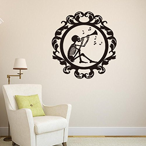 GYHTXHJPET Kreative Wand Aufkleber Mode Wandtattoos Umweltschutz Wandbild Dekoration Flugzeug Dekoratives Material Wallpaper Showroom Glas Halloween Chemische Skelett 43 * 43 cm
