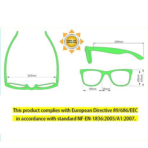 b2c228e09b9525 ONNEA 10 Paare Party Favors Sonnenbrille Set Sommer Kinder Damen (Grün 10 -Pack)