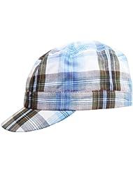 Wegener Jungen Basecap Cap Cappy Schirmmütze Sportcap in blau-kariert und in den Grössen 52/53, 54/55 und 56/57