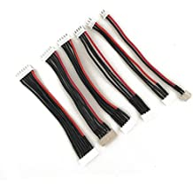 5Pcs JST XH Conector 2-6S equilibrio cargador de cable de silicona adaptador de alambre macho a hembra