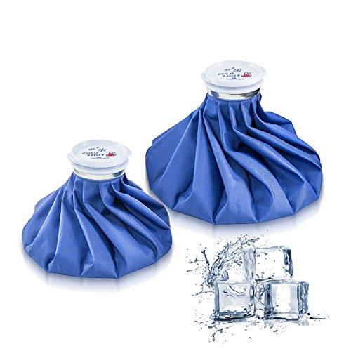Bolsa de hielo paquetes de 2–Bolsa de frío y calor reutilizable Packs aliviar el malestar reducir el dolor 2tamaños (23/28cm)