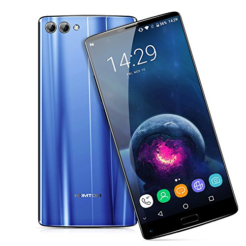 HOMTOM S9 Plus - 4G Smartphone, Android 7.0, Handy ohne Vertrag, 5.99 Zoll, MT6750T 1.5GHz Octa-Core, 4GB RAM 64GB ROM, 4050mAh, Fingerprintsensor ID, Frontkamera + Dual Back-Kamera, Dual SIM (Blau)