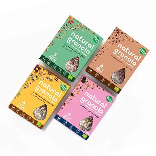 Granola Mix -Moras - Cacao - Goji - Arándano *Nueva Receta* -Natural Athlete- Desayuno con frutos secos y semillas - 100{19df3c62fc762e9d14e660da8c7375e70036f9e3d2dda086d8d0b3e3e85576d1} natural y orgánica, sin azúcar refinado. Pack 4x325gr