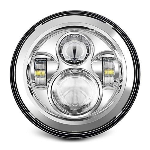 """7 """"LED-Scheinwerfer für Harley Davidson Motorrad CHROME PROJECTOR DayMaker HID LED-Glühlampe"""