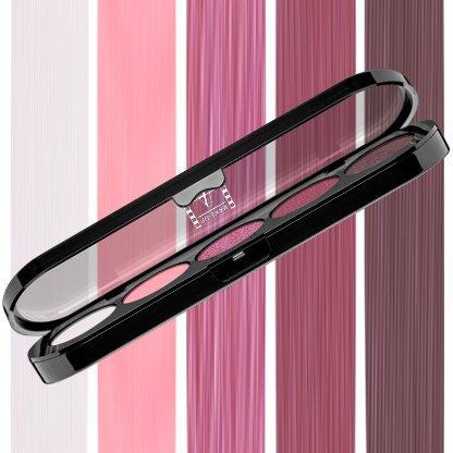 Beste Lidschatten Palette Make-Up Atelier Paris T16 Shiny plum tones, Profi-Augenpalette mit 5 Farben, hoch pigmentierte Lidschatten (Atelier Paris Make-up)