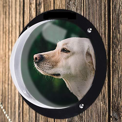 ZZQ Hundezaunfenster für Haustiere Haltbare Acrylkuppel Haustierhundezaunfenster für Katzenhunde Verhindern das Springen der erforderlichen Hardware und Anweisungen