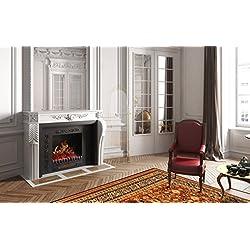 CHEMIN ARTE 117 EF-117 Foyer effet flammes + chauffage 2000W Chemin'Arte, Noir, 45x23x24cm