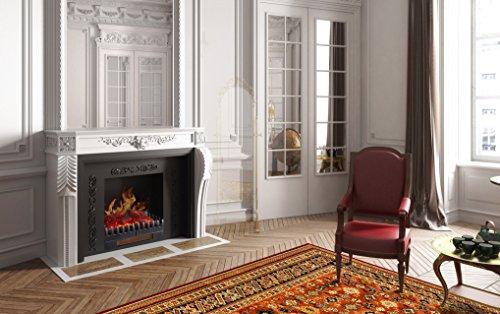Chemin'Arte 117 - Chimenea decorativa con efecto de llamas, calefactor de 2000...