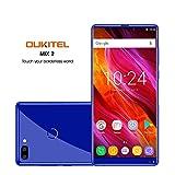 OUKITEL MIX 2 5.99 pollici (rapporto 18: 9) Android 4G Batteria 4080mAh Smartphone Octa Core 2.39GHz 6GB RAM 64GB ROM, 21MP+2MP Samsung Telecamere + 13MP Fotocamere Frontali Cellulari e Smartphone-blu