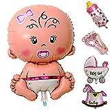 broadroot Baby Dusche Jungen Mädchen Urlaub Dekorationen Folie Ballons Buggy