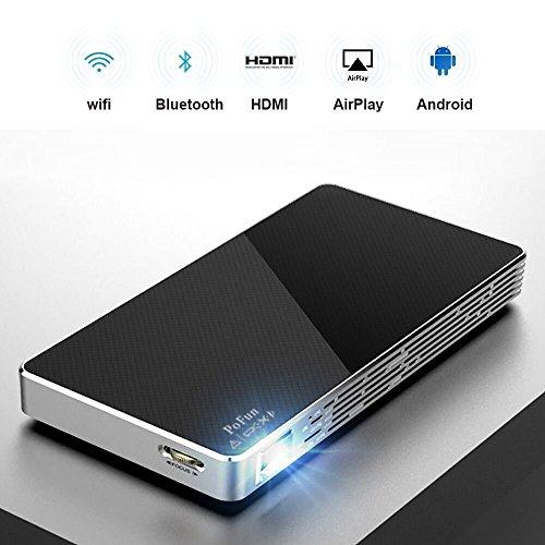 Smart Mini Android Wireless Tragbarer Projektor -gekennzeichnet mit Dual Wi-Fi und vertikaler Trapezkorrektur -Slim Wireless HD DLP Tragbare Tasche Heimkino Pico Projektor