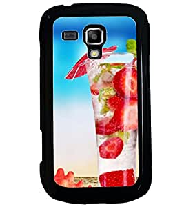 Printvisa Yummy Strawberry Summer Drink Back Case Cover for Samsung Galaxy S Duos 2 S7582