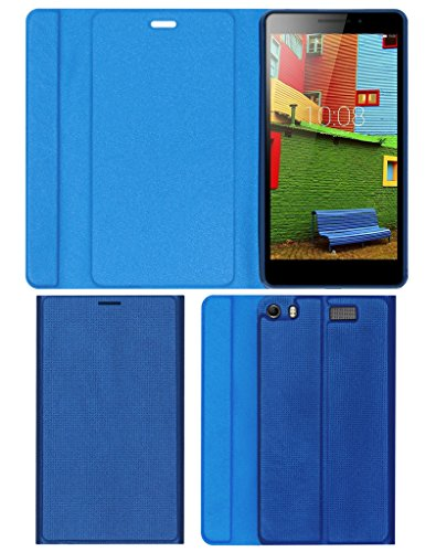 Acm Imported Designer Tri-Fold Flip Case for Lenovo Phab Plus Tablet Cover Real Blue