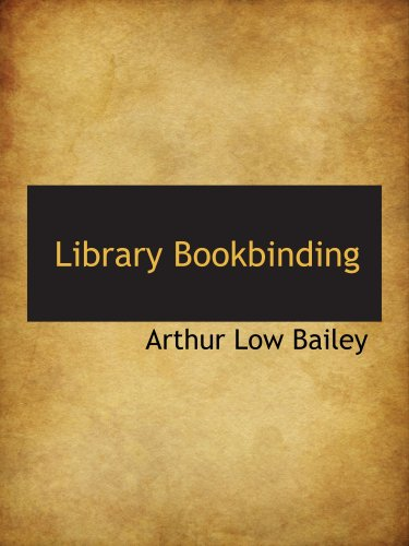 Library Bookbinding