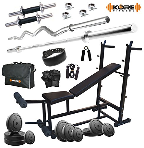 Kore 52kg Combo DD26 Home Gym with 6-in-1 Multipurpose Bench