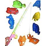 A95, Gran juego de pesca 11 piezas con los animales grandes en caja de transporte práctica! ... Con el imán divertido Ángel no sólo para los ni?os!