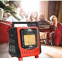 Enjoyall Estufa de calefacción portátil al Aire Libre Encendido electrónico piezoeléctrico Calentador de Gas Tienda de