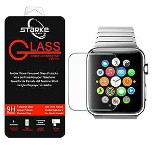 Film vitre de protection écran Apple watchi watch 38mm en verre trempé haute transparence et ultra résistant (incassable, inrayable 9H) et Ultra Slim (0,26mm) - Starke Media®