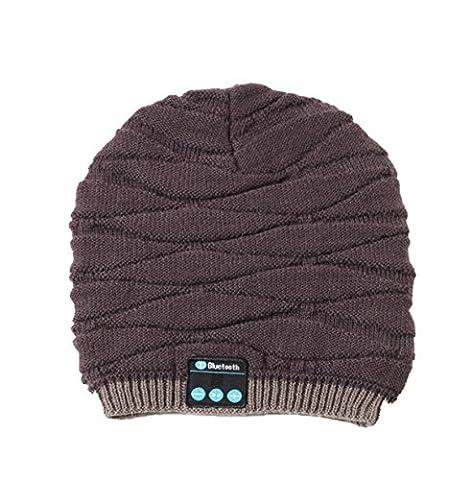 Casque Bluetooth Téléphone Sans Fil Bonnet En Tricot Chapeau Musique