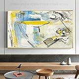 FENGJIAREN Pintura Al Óleo Pintada A Mano 100% Pura Europa Y Los Estados Unidos. Suave Sala De Diseño. Pintura Al Óleo del Hotel. Versión Horizontal De Las Pinturas Nórdicas Pintadas A Mano En
