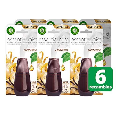 Air Wick Essential Mist Recambio Ambientador Flor de Vainilla - Paquete de 6 Recambios