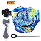 #5: MTT SOLUTION Gyro Battling Top Battling Blades Game Tops B-34 Victory Valkyrie Boost.B.V Burst Starter With String Launcher B-34 Beyblade Burst B-34 Starter God Valkyrie.6V.Rb Launcher+Grip ( with B-40 Launcher Grip Black )